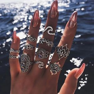 11-Piece Boho Ring Set